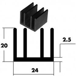 Dissipateur pour TO220 25x24x20mm