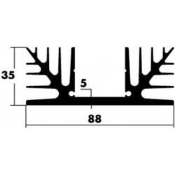 Dissipateur TO3 type 41 88x35x75mm non percé