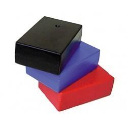 Coffret ABS 90x60x30mm logement pile 9V rouge