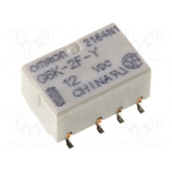 Relais CMS type Omron G6K-2F-Y 2R/T 12Vdc 1315ohms