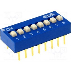 Inter dip-switch 8 contacts dil16