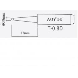 Panne de fer à souder 936/937 T-3,2LD pointe 0,8/0,6mm