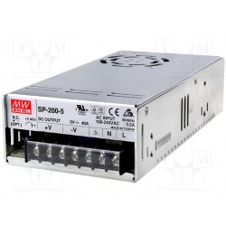Alimentation Mean-Well 200W - 85/264Vac - 5Vdc - 40Amp.