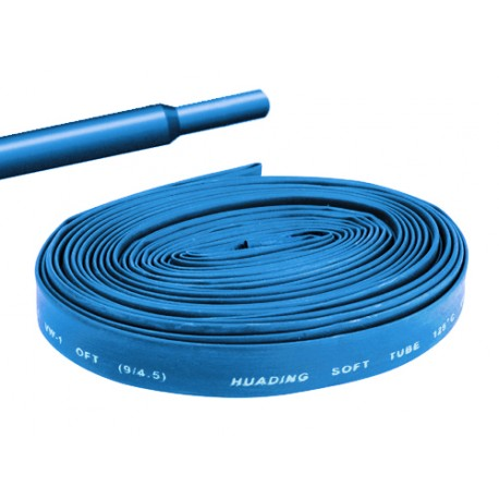 Gaine thermorétractable 12mm bleue - longueur de 1 mètre