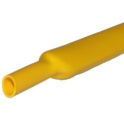 Gaine thermorétractable 3,2mm jaune - longueur de 1 mètre