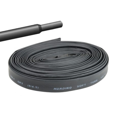 Gaine thermorétractable 40mm noire - longueur de 1 mètre