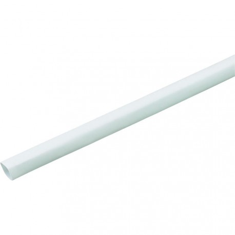 Gaine thermorétractable 6,4mm blanche - longueur de 1 mètre