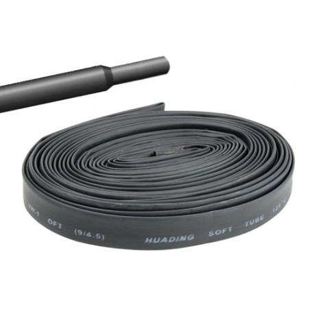 Gaine thermorétractable 6,4mm noire - longueur de 1 mètre
