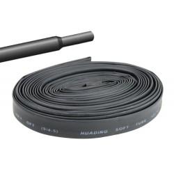 Gaine thermorétractable 9,5mm noire - longueur de 1 mètre